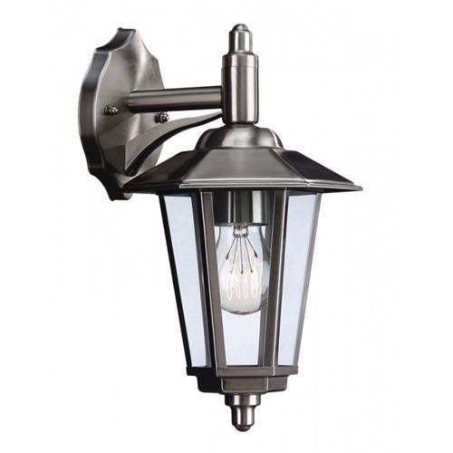 Massive 16077 47 10 galveston stainless steel victorian style 1 lamp down lantern wall light 160774710