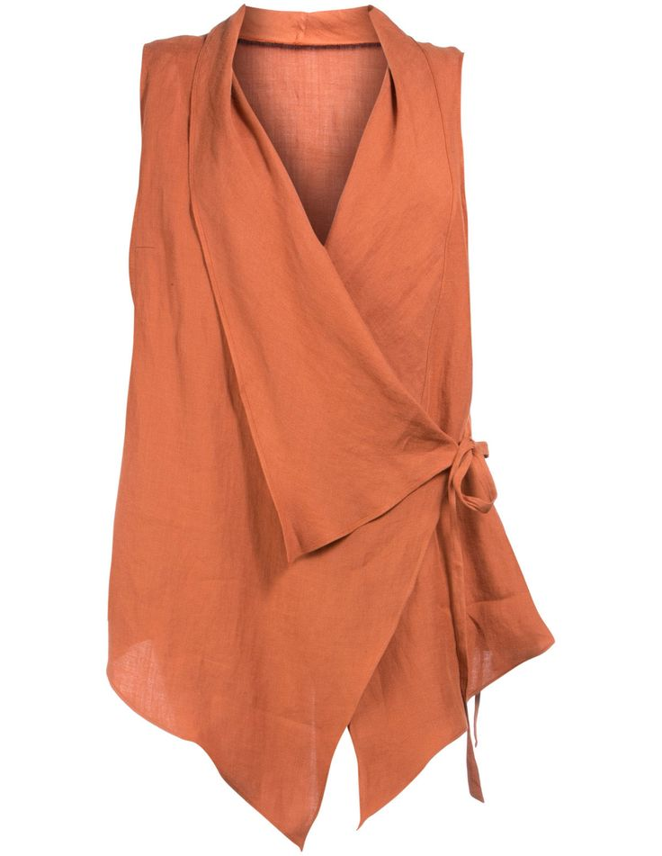 Pretty vest wrap in linen - in different color, please