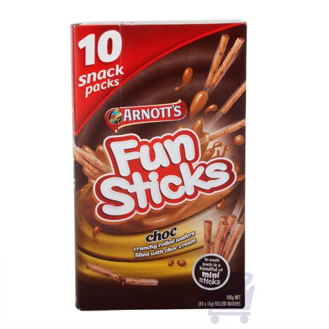 Choc Fun Sticks (Pack of 10) – Arnott's – 180g | Shop Australia