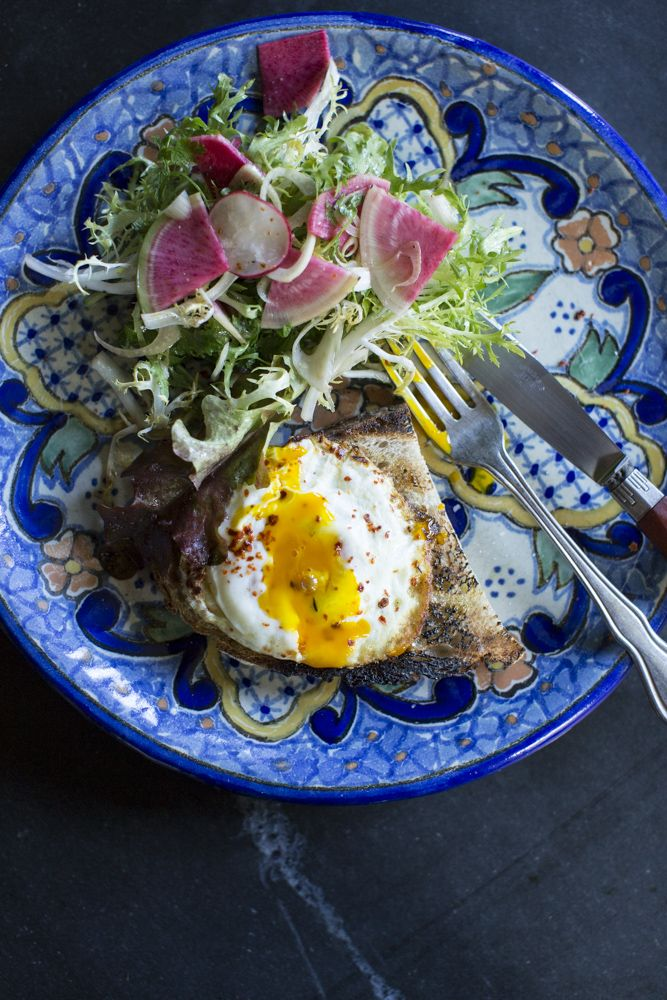 Fanny alice plate We Love Mom: Alice Waters's Egg Fried in a Spoon Over the Fire