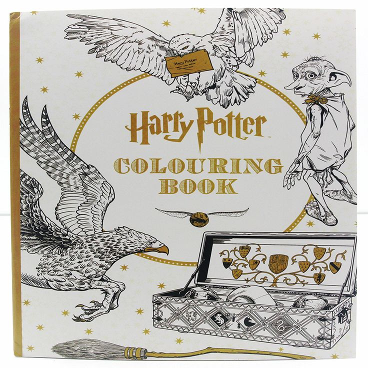 24 Pages English Edition Harry Potter Coloring Book For Adult Relieve Stress Kill Time Graffiti Painting Drawing Book