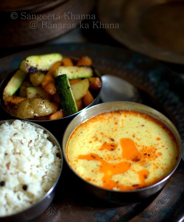 banaras ka khana: sama ke chawal aur moongphali ki kadhi   Fasting recipes for Navratri....