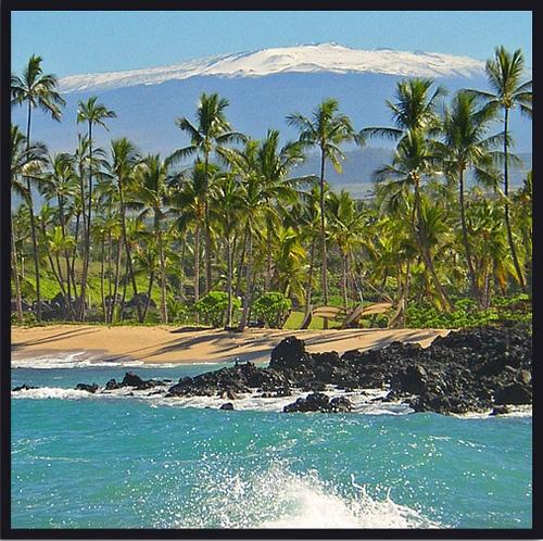 Snow covered Mauna Kea on the Big Island