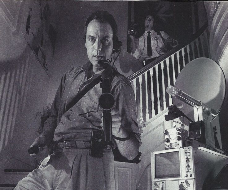Peter Aykroyd, an amateur ghostbuster with the Los Angeles based Office of Scientific Investigation and Research. He became interested in the paranormal while researching with his brother Dan for the 1984 movie 'Ghostbusters'.