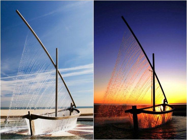 Фонтан-лодка, Испания