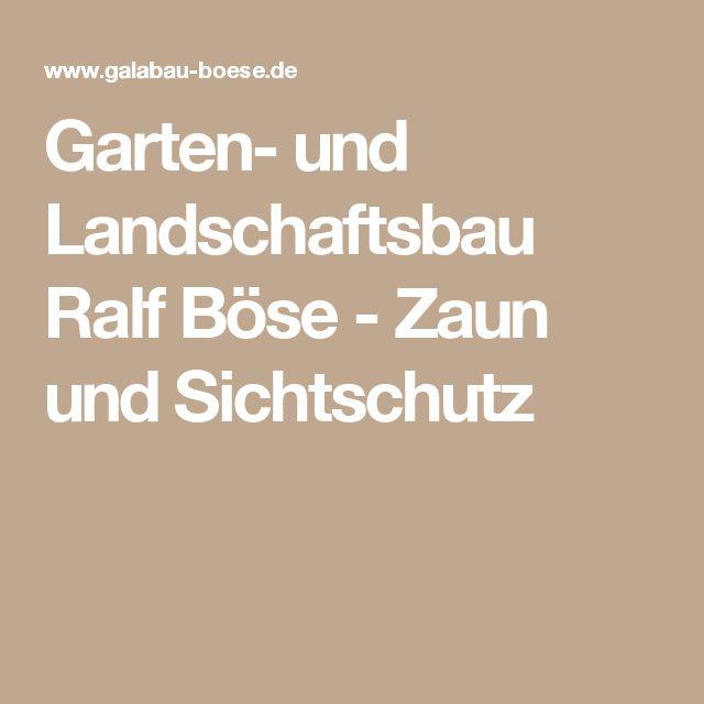 Inspirational Garten und Landschaftsbau Ralf B se Zaun und Sichtschutz