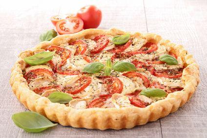 Tarte tomates, mozzarelle et basilic