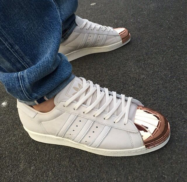 i absolutely love the copper toe superstars sneakers. Black Bedroom Furniture Sets. Home Design Ideas