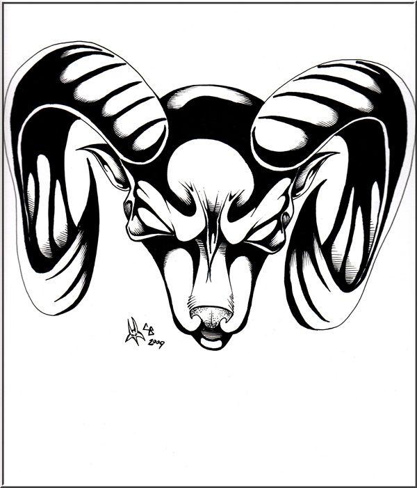 Aries Tattoo Designs   Aries tattoo design - Captain Froggers Art Gallery