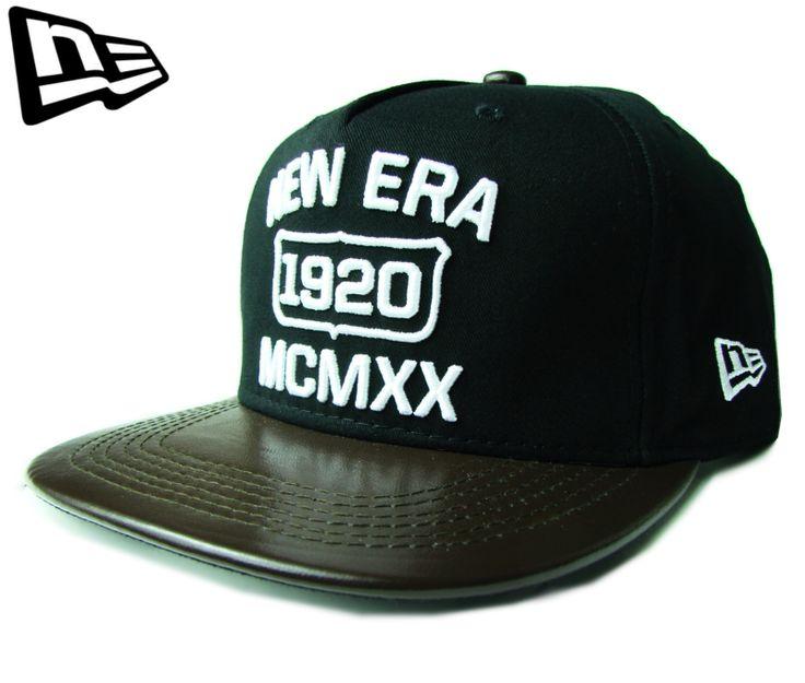 """(ニューエラ) NEW ERA 9FIFTY 5PANEL """"MCMXX"""" レザーバイザー ストラップバック ブラックXブラウン【BLACK】【黒】【newera】【帽子】【5パネル】【ファイブパネル】【ブラック】【LEATHER CAP】【CAP】【キャップ】【レア】【スナップバック】【SNAPBACK】"""