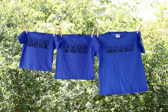 Sibling Shirts-The Original: Oldest  Rule Maker by Nestingproject