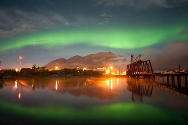 Here is the quaint community of Carcross sprinkled with a little Aurora dust. A touch of Yukon magic to make your morning extra special. #ExploreYukon  Photo by Wayne Roberts