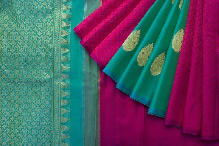 Kanakavalli Handwoven Kanjivaram Silk Sari 1021311 - Sari / Kanjivarams - Parisera