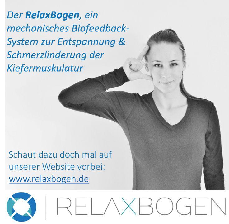 Der #RelaxBogen zur #Entspannung und #Schmerzlinderung der #Kiefermuskulatur  #Zähneknirschen #Bruxismus #CMD