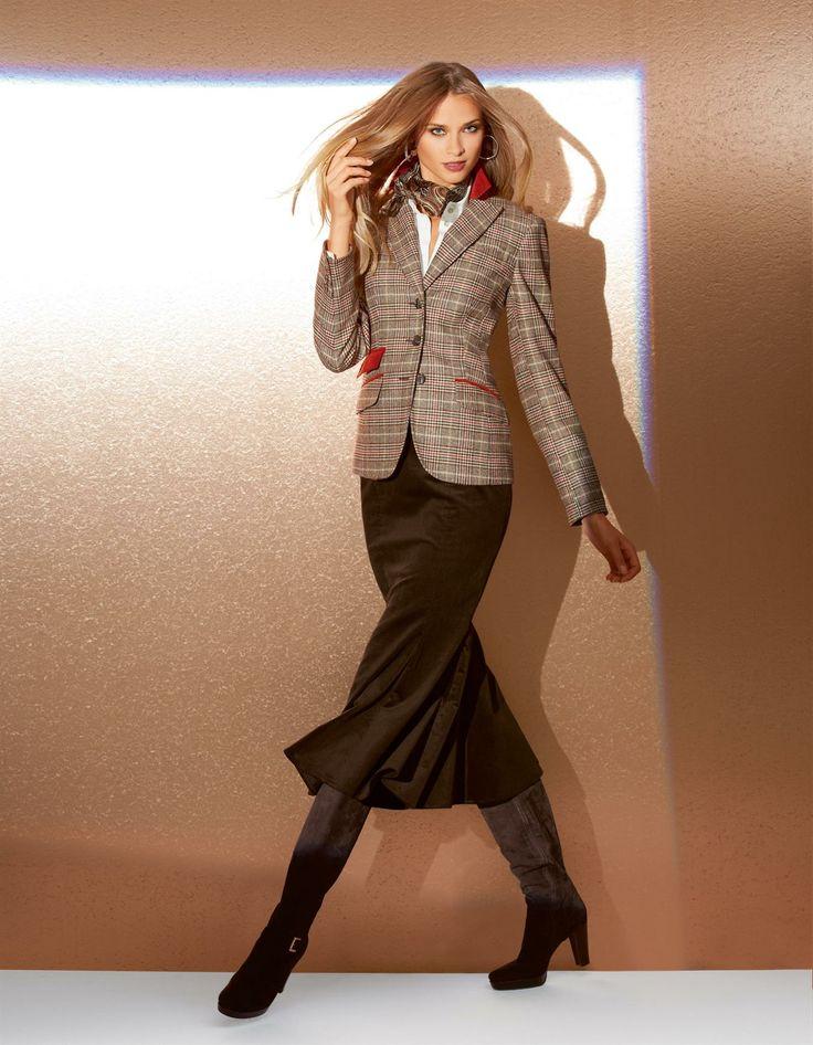 Glencheck-Blazer in der Farbe kariert - Größen 46/38/40/44/42/36 im Madeleine Mode Onlineshop