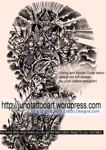 Berseker Norse mythology tattoo by Juno. Contact me if you want a custom design for your next tattoo http://junotattoodesigns.com/