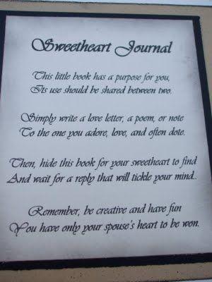 ideas gift ideas anniversaries gift sweetheart journals journals ...
