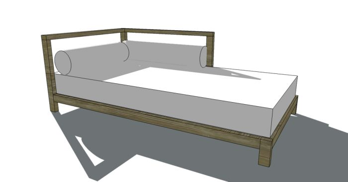 how to build a wooden outdoor daybed