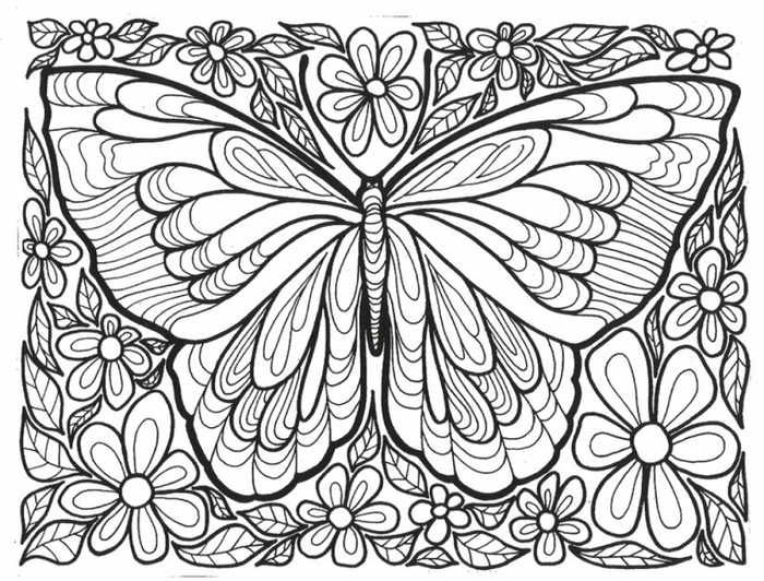 Coloring Pages For Teenage Printable | Butterfly coloring ...