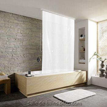 Blanc - Rideau de baignoire