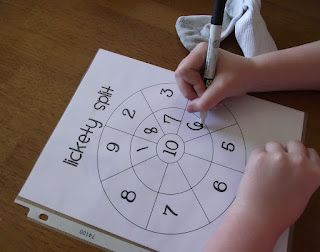 Lickety Split math game for adding sums of 10. 1st grade Free printable- this gave me an idea for upper grade to make something similar for finding factors of a number
