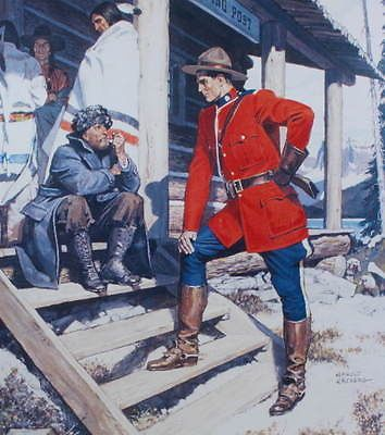 Mountie RCMP at trading post