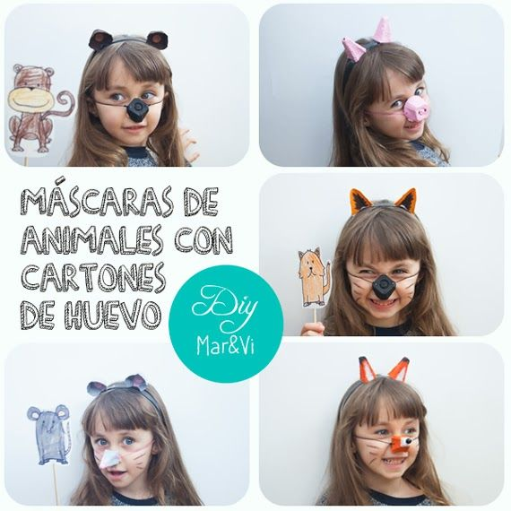 Mar&Vi Creative Studio - España: DIY: Máscaras de animales hechas con cartones de huevo #egg_carton #animal_mask