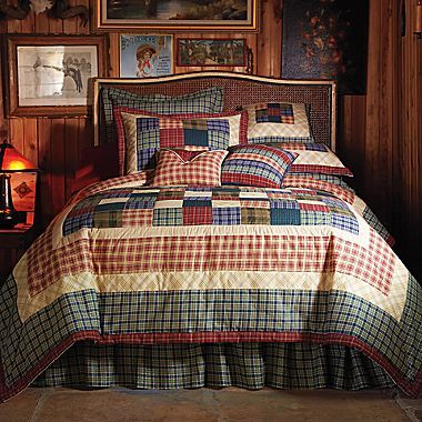Plaid quilt. Nice but out of stock