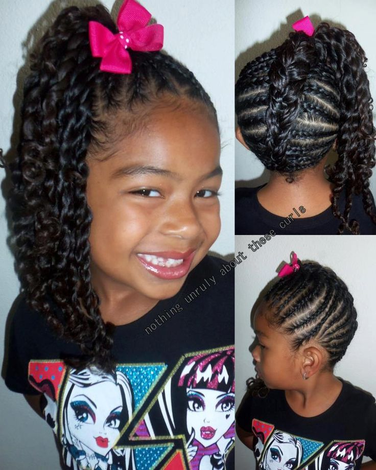 Strange 1000 Images About Girls Hairstyles On Pinterest Cornrows Hairstyles For Women Draintrainus