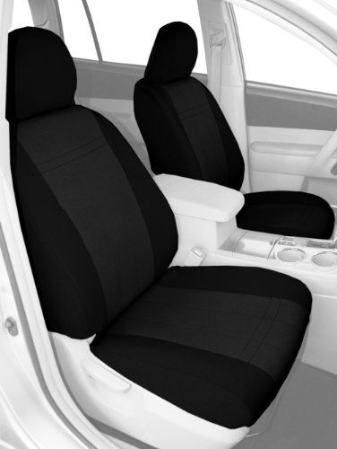 CalTrend Front Row Bucket Custom Fit Seat Cover for Select Dodge RAM Models - SportsTex (Charcoal Insert with Black Trim) - https://musclecarheaven.net/?product=caltrend-front-row-bucket-custom-fit-seat-cover-for-select-dodge-ram-models-sportstex-charcoal-insert-with-black-trim