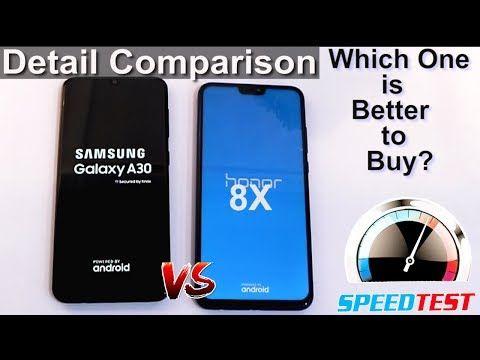 Galaxy A30 VS Honor 8X | Detail Comparison & Speed TEST