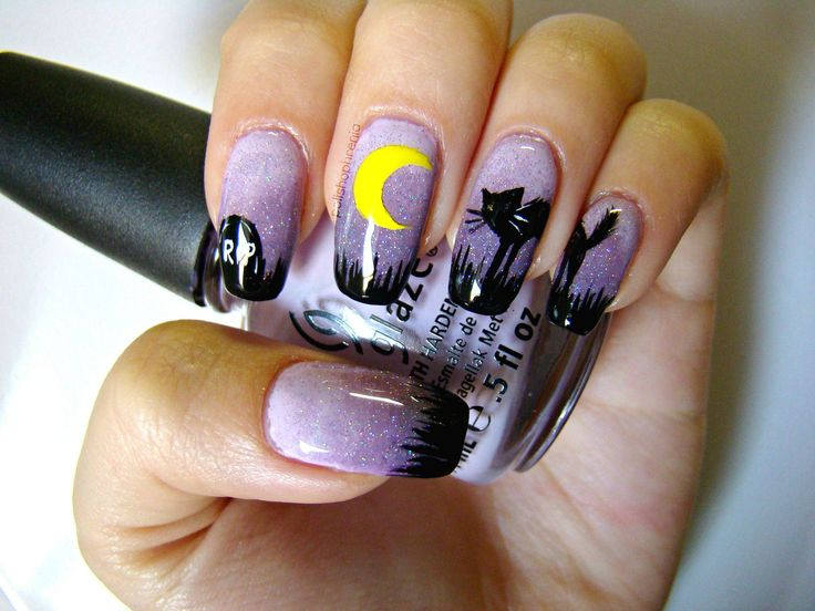 Cute Halloween Nails Step By Step Papillon Day Spa
