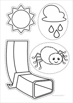 The Itsy Bitsy Spider / The Incy Wincy Spider Worksheets and Activities. Puppets to help retell the rhyme.