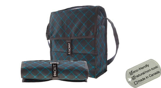 Packit Social Lunch Coolers - picnic cooler tote bags blue/grey