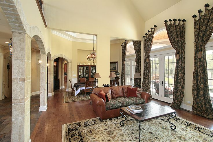 Beautiful curtains!!!  Love the high ceilings!