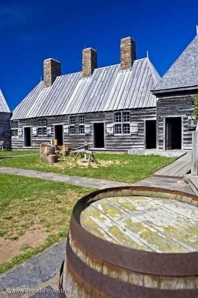 Courtyard at Port Royal National Historic Site near Annapolis Royal, Bay of Fundy, Evangeline Trail, Nova Scotia, Canada.