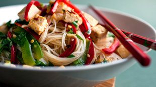 Recipe Box - NYT Cooking---Stir-Fried Noodles with Tofu and Peppers