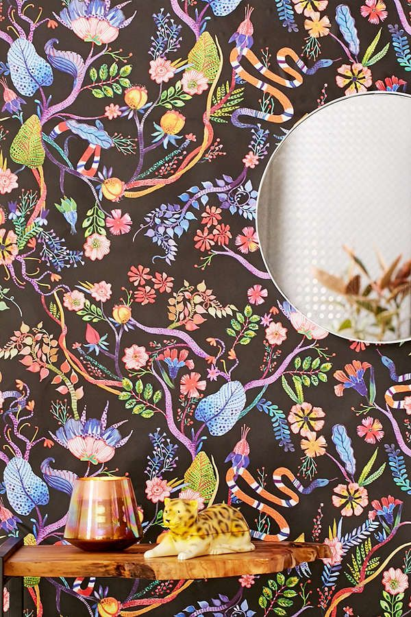 Slide View: 1: Whimsical Floral Removable Wallpaper