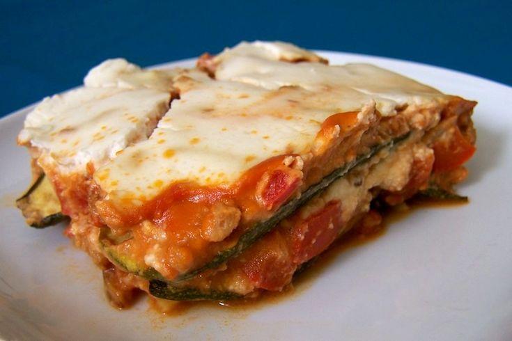 Lasagne met vegan crème fraîche, koolhydraatarm, vegetarisch, veganistisch