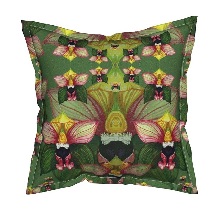 Serama Throw Pillow featuring E.Helleborine by joancaronil | Roostery Home Decor