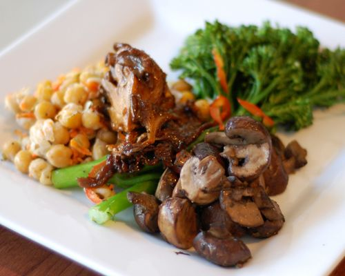 Roasted Marinated Wild Mushrooms | SpoonRocket | Pinterest