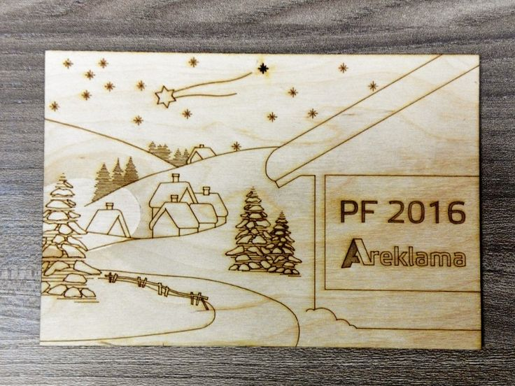 PF 2016 - wooden postcard