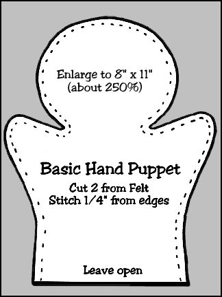 Puppet Workshop--Hand Puppet Body Pattern