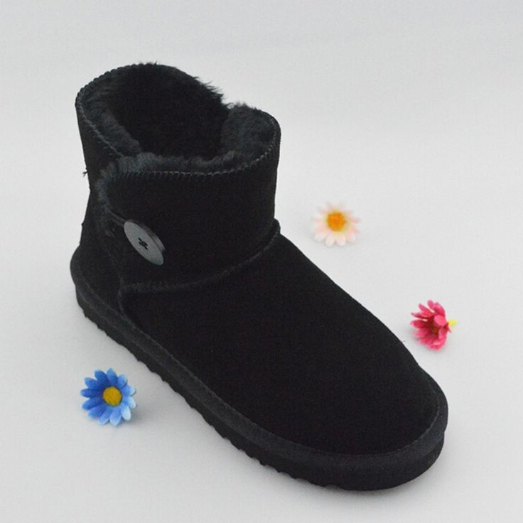 26.43$  Buy now - https://alitems.com/g/1e8d114494b01f4c715516525dc3e8/?i=5&ulp=https%3A%2F%2Fwww.aliexpress.com%2Fitem%2FWomen-boots-2016-Winter-Genuine-Leather-Australia-Snow-Boots-Solid-Flat-Women-Ankle-boots-Winter-shoes%2F32752533477.html - Women boots 2016 Winter Genuine Leather Australia Snow Boots Solid Flat Women Ankle boots Winter shoes Women 26.43$