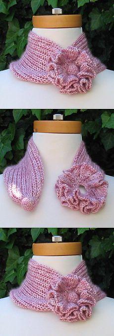 Идея для шарфика-воротника. Просто и оригинально.