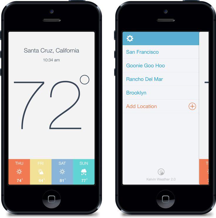 Kelvin Weather App for iPhone 2.0 / Eric Hoffman