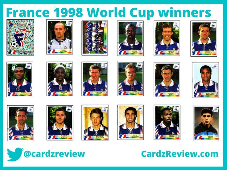 France 98 players (French team) from Panini sticker album.