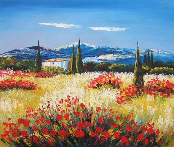 Mediterranean Style Oil painting on canvas, selling art online