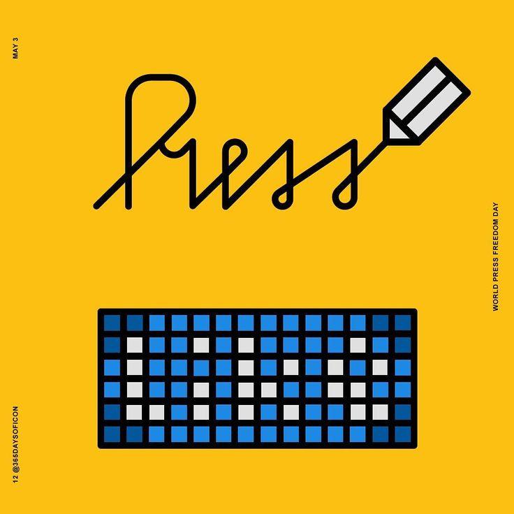 12/365 May 3 🌎 Press Freedom day! https://www.instagram.com/365daysoficon/ #un #unesco #press #pressfreedomday2017 #write #writers #writersofinstagram #post #express #freedom #365daysoficon #challenge #today #world #calendar #icon #design #icondesign #iconaday #pixel #pixelperfect #vector #line #grid #logo #branding #illustration #adobeillustrator #digitalartist #designlife #designstudio #graphicdesign