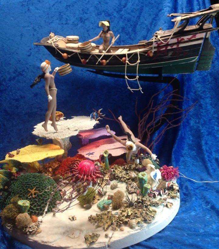 Miniature 1:12 Scale Scene AMA Divers of Japan   Etsy